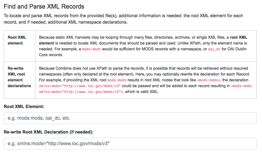 Harvesting Records — Combine documentation